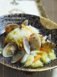 あさりと白菜の簡単ジンジャー蒸し
