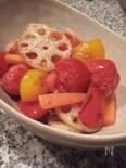 しゃきしゃきレンコンと野菜たっぷりマリネ
