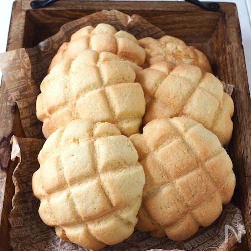 捏ね発酵なし!簡単メロンパン