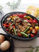 簡単!夏野菜とチキンのローズマリー香るオリーブオイルグリル