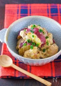『ご飯にもぴったり♪『鶏肉とさつまいもの味噌バター煮』』