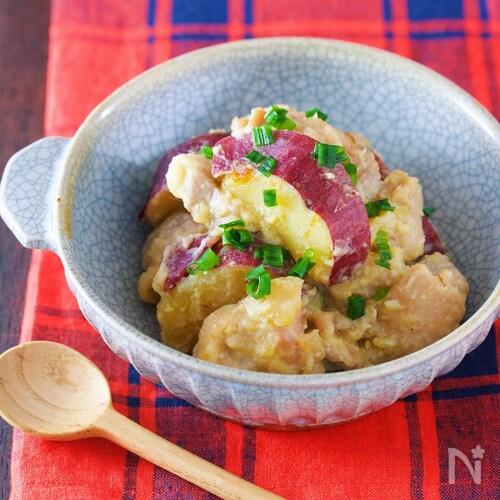 ご飯にもぴったり♪『鶏肉とさつまいもの味噌バター煮』