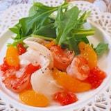 海老とかぶのオレンジサラダ