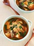 たらと豆腐のキムチスープ
