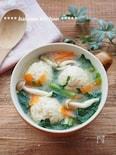 えのき入り鶏団子とほうれん草のおみそ汁(出汁不要・時短)
