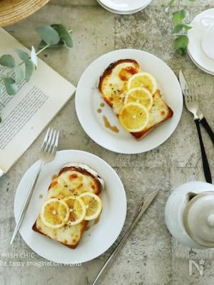 カチョカバロとメイプルシロップのレモントースト