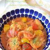 【バスク風チキンのトマト煮込み】鶏むね肉でもしっとり♡