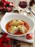 チーズがとろ〜り!ロール白菜のトマト煮込み。クリスマスにも♪