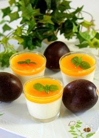 『パッションフルーツのヨーグルトゼリー』
