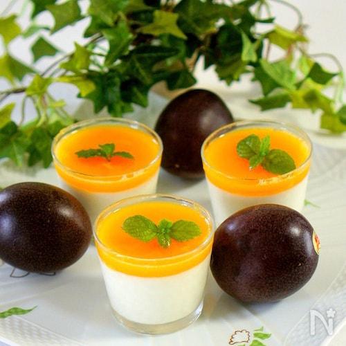 パッションフルーツのヨーグルトゼリー