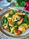 【むね肉1枚大満足】シャキシャキ小松菜と鶏肉のふわふわ卵炒め