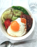 この1皿でボリュームも栄養も満点☆ロコモコ丼