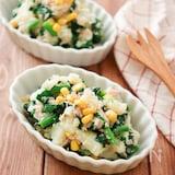 マヨなし!ほうれん草ツナポテトサラダ!ごま油と塩で簡単中華風