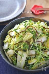 5分で完成!食べたら止まらない*白菜と豆苗のやみつきサラダ