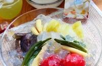 夏野菜の冷やしおでんきらきらゼリー寄せ