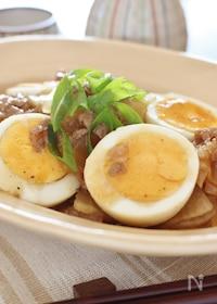 『豚大根と茹で卵のオイスター炒め煮』