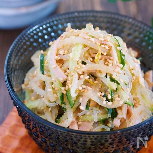 もやし 中華 サラダ もやし・きゅうり・ちくわ☆中華風サラダ レシピ・作り方