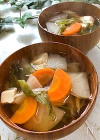 『体の芯まで温まる☆寒い日に食べたい『生姜と根菜のぽかぽか汁』』