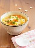 冷凍トマトとたっぷり野菜のチキンスープ