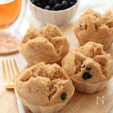 和スイーツ。きな粉と黒豆の米粉蒸しパン。