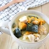 ほっこり♪かぼちゃの豆乳おかずスープ♪味付けは味噌と塩のみ