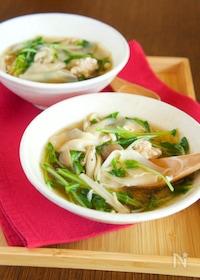 『【包丁不要】包まない ワンタン風スープ』