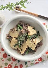 『牛肉と筍の炒め物』