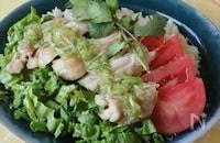 【炊飯器で同時調理】シンガポールチキンライス
