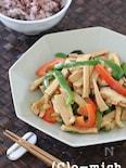 高野豆腐の青椒肉絲