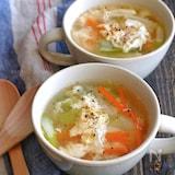 手羽元の茹で汁で簡単卵スープ