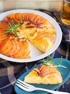 りんごとカマンベールのフライパンケーキ♡HMで簡単でも本格!