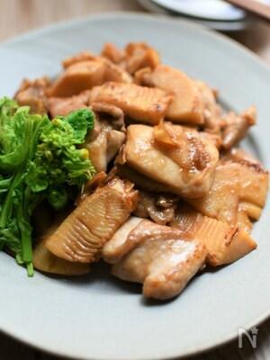 鶏肉とタケノコのあっさり照り焼き