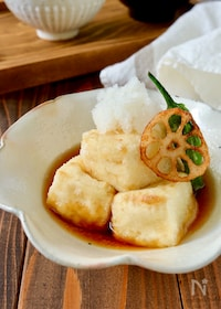 『カリフワ揚げ出し豆腐』