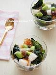 かんたん!長芋とわかめの麺つゆジュレサラダ