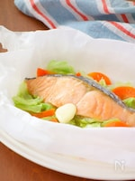 鮭のレンジ蒸し