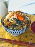 生ホタテむき身とわかめの炊き込み混ぜご飯