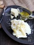 ホワイトアスパラガスとペコリーノ・ロマーノのチーズリゾット
