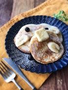 『グルテンフリー』バナナを練りこんだ米粉のパンケーキ