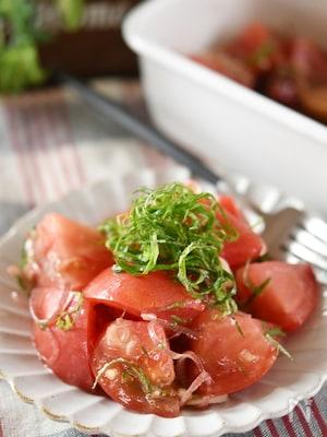 トマトと薬味のさっぱり!だしサラダ