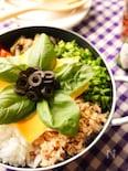野菜たっぷり!フライパンで作るイタリアンチーズビビンパ