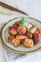 お弁当にも♩豚こま団子のはちみつ味噌マスタードてりやき