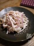 ササッとデリ風サラダ【大根と紫玉ねぎのアンチョビマヨサラダ】