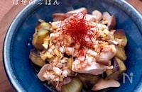 麺つゆで簡単♪【なすと鶏肉のぶっかけネギだれ】