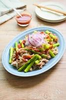 アスパラと豚しゃぶの韓国風蒸しサラダ