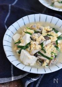 『豚肉と豆腐のふんわり卵とじ』