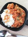 漬け込み肉で柔らかジューシー☆トマトチキンカレー