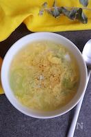 ふわふわ卵の中華風かき玉スープ