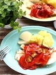 たらの野菜トマトソースあん