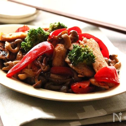 鶏むね肉とキノコの塩麹炒め 【#お弁当#冷めても美味しい】