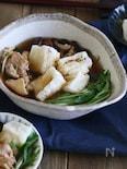 揚げ餅のきりたんぽ鍋風スープ